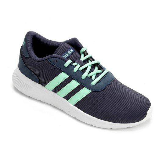 fb089065cf3 Tênis Adidas Lite Racer W Feminino - Marinho e Verde - Compre Agora ...