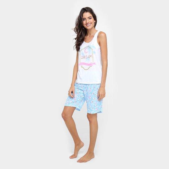 020727b05 Pijama Curto Victory Dream Ovelhas Feminino - Compre Agora