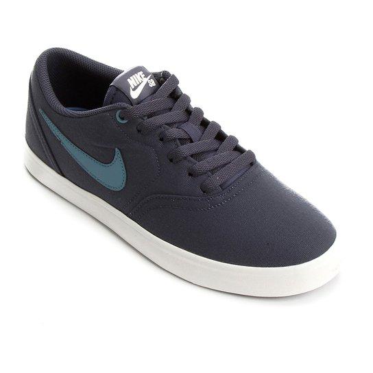 896c2e5082f Tênis Nike Sb Check Solar Cnvs Masculino - Branco e Azul - Compre ...
