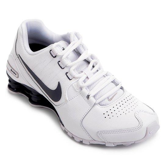 f9ae327a64 Tênis Couro Nike Shox Avenue LTR Masculino - Branco e Azul | Zattini