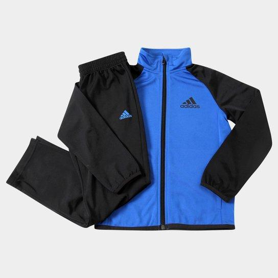 9d57638f23b Agasalho Adidas Yb Ts Entry Oh Infantil - Azul Royal+Preto