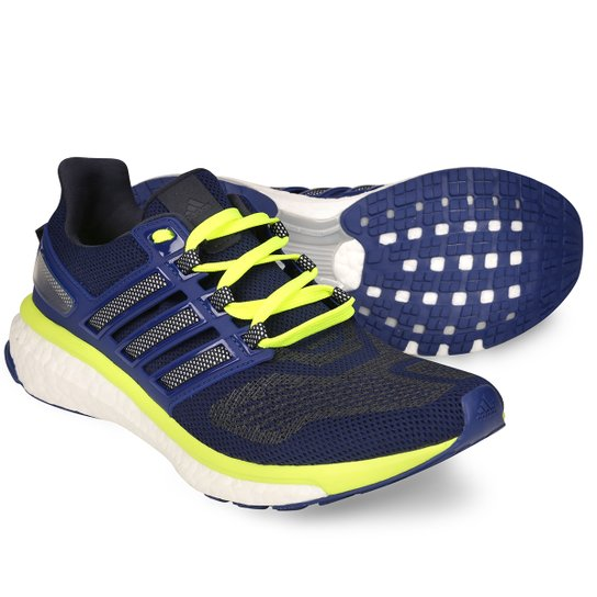 f9a9fa1dda5 Tênis Adidas Energy Boost 3 Masculino - Marinho e Verde - Compre ...