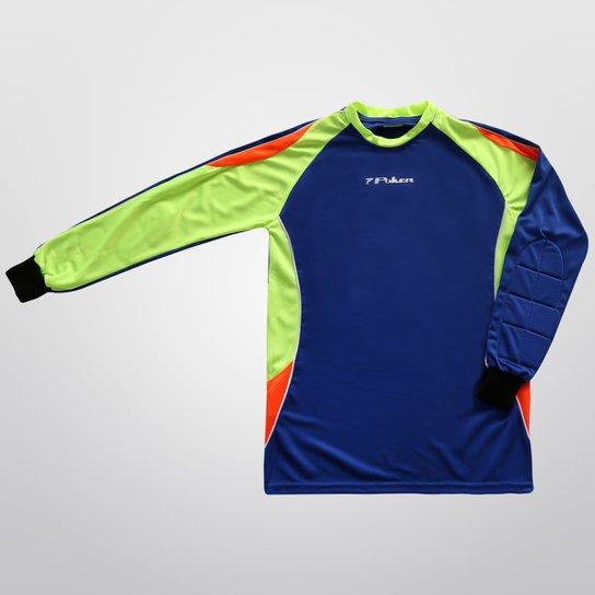 5bfb9dfda1e11 Camisa Poker Mayotte Goleiro Infantil - Marinho+Verde Limão