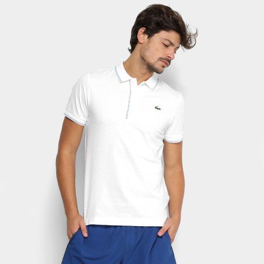 Camisa Polo Lacoste Masculina - Branco e Azul - Compre Agora   Zattini 0e9a4bbbb4