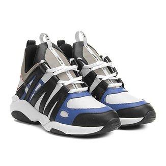 1e98a65096 Tênis Couro Carmim Chunky Sneaker Feminino