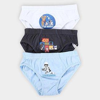 0e0133cd8 Kit de Cuecas Slip Infantil Lupo Disney KM 3 Peças