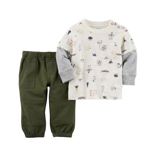 Conjunto Infantil Carter s Blusa e Calça Masculino - Compre Agora ... e3476abdec