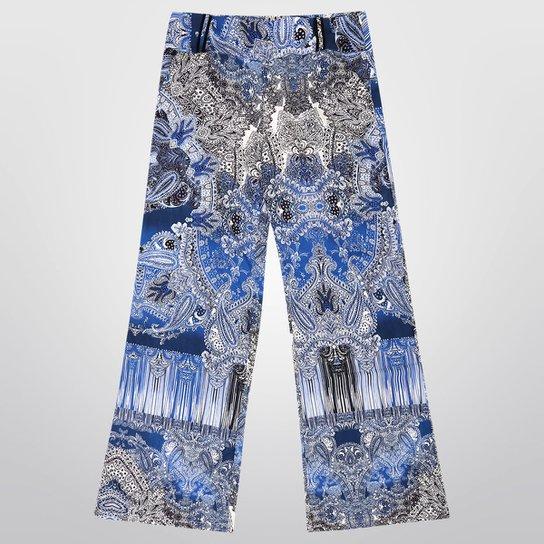c4ca61e36 Calça M. Officer Miele Pantalona Estampada - Compre Agora | Zattini