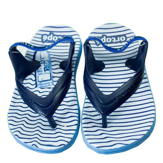 2e61a04f3131f Chinelo Infantil Masculino Ortopé Aqua Flex PVC 2107124 - Branco+Azul