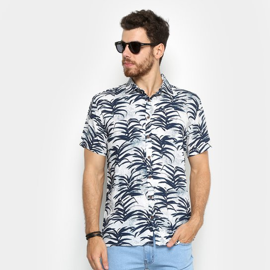 9e790ef9a Camisa Colcci Manga Curta Estampa Tropical Masculina - Compre Agora ...