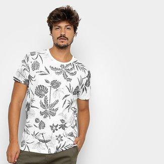 5eb3f1254 Camiseta Colcci Estampa Folhagem Masculina
