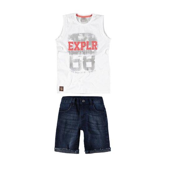 Conjunto infantil de verão Carinhoso - Compre Agora  35fec25f6e3