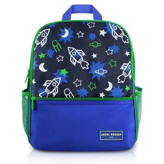 d8d12a414d Mochila Infantil Escolar Jacki Design Foguete Microfibra Masculino -  Marinho+Verde