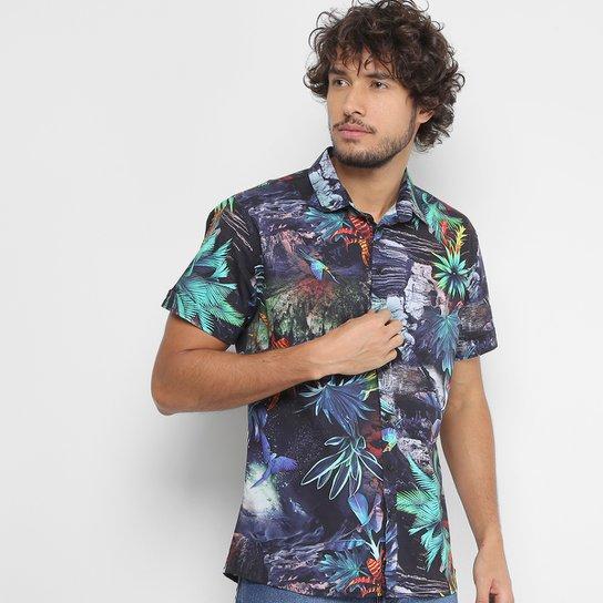 Camisa Coca-Cola Manga Curta Estampa Floral Masculina - Compre Agora ... 3ce1466efeb