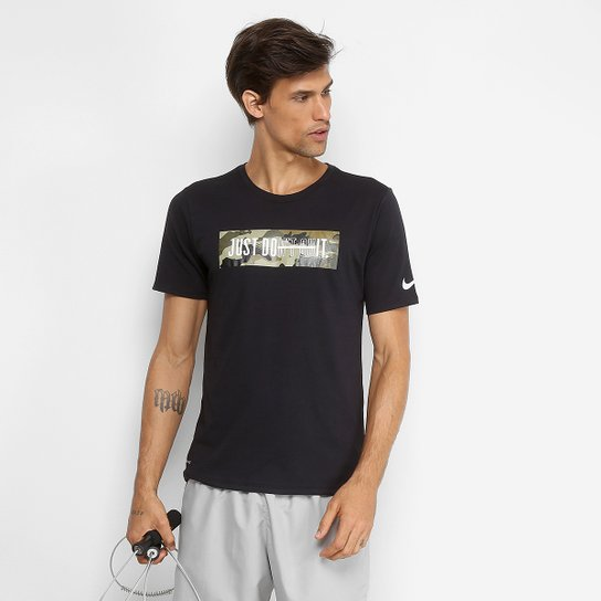 Camiseta Nike Dry Just Do It Masculina - Preto - Compre Agora  b389f8ab643d3