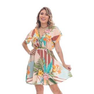 cbe4661b7324 Vestido Clara Arruda Curto Cintura Laço Feminino