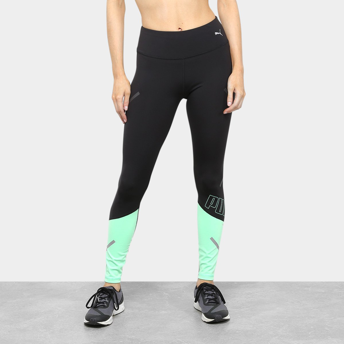 Calça Legging Puma Runner Id Thermo R+ 7/8 Tight Feminina