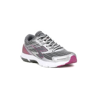 649074ec9cc Tênis Esportivo Feminino Diadora Prata rosa