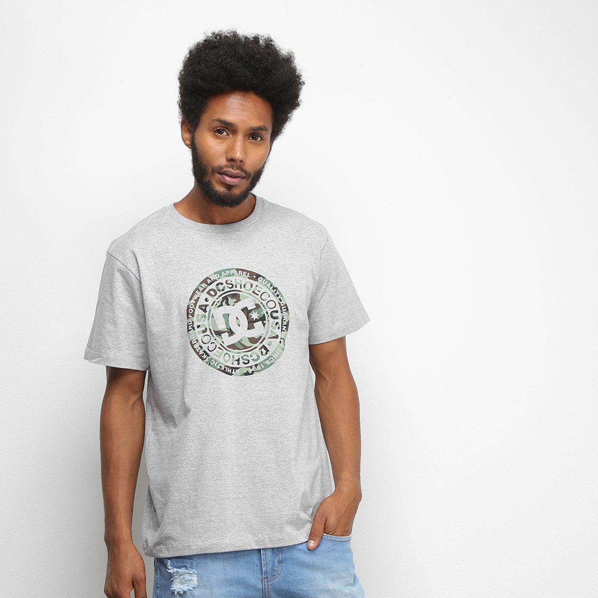 Camiseta DC Shoes Basic Circle Print Masculina
