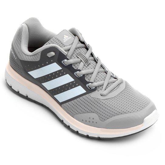 5616f1f8655 Tênis Adidas Duramo 7 Feminino - Cinza e Chumbo - Compre Agora