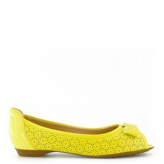 d29312e40 Peep Toe Piccadilly Veniz - Amarelo+Verde