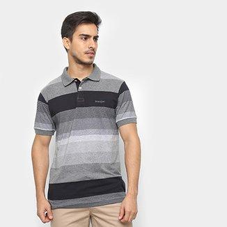 118f7a1e7e8bc Camisa Polo Wrangler Estampa Listrada Masculina