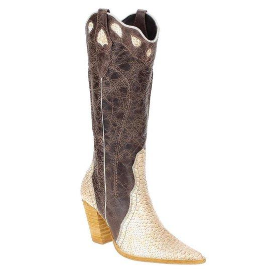 Bota Couro Texana West Country Zíper Lateral Feminina - Compre Agora ... 47c3c4e5148