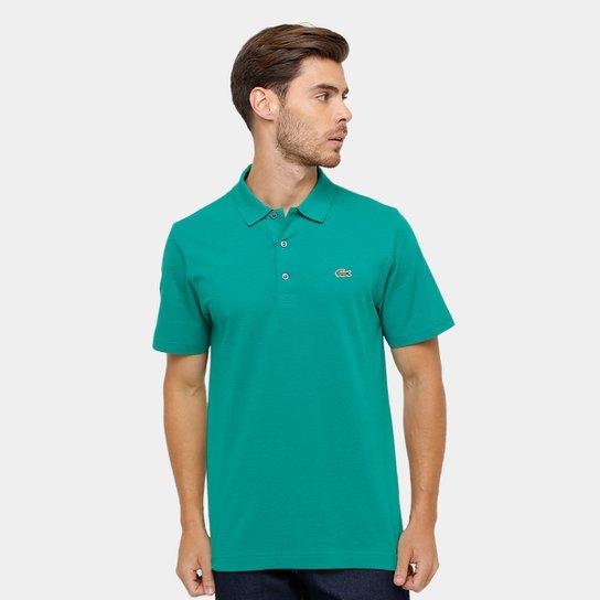 9ed187ab98089 Camisa Polo Lacoste Super Light Masculina - Verde Limão e Verde Água ...