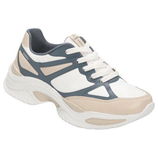 57023f4e03 Tênis Azaleia Chunky Sneaker Feminino - Rosa e Cinza