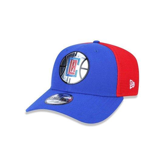 Bone 3930 New Era Los Angeles Clippers NBA Aba Curva - Azul Royal+Vermelho d2047d4bef4
