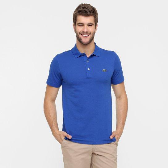 Camisa Polo Lacoste Super Light Masculina - Azul Royal e Verde ... f47d667efc