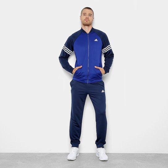 Agasalho Adidas Cozy Masculino - Azul e Marinho - Compre Agora  27ade8e2487da