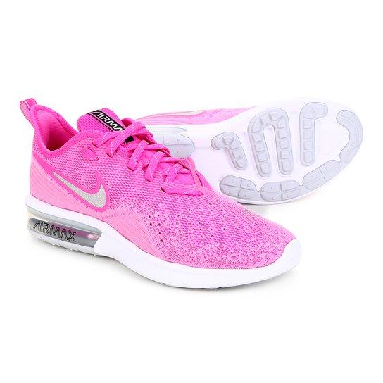 09e4ba7cd4899 Tênis Nike Air Max Sequent 4 Feminino - Roxo e Prata - Compre Agora ...