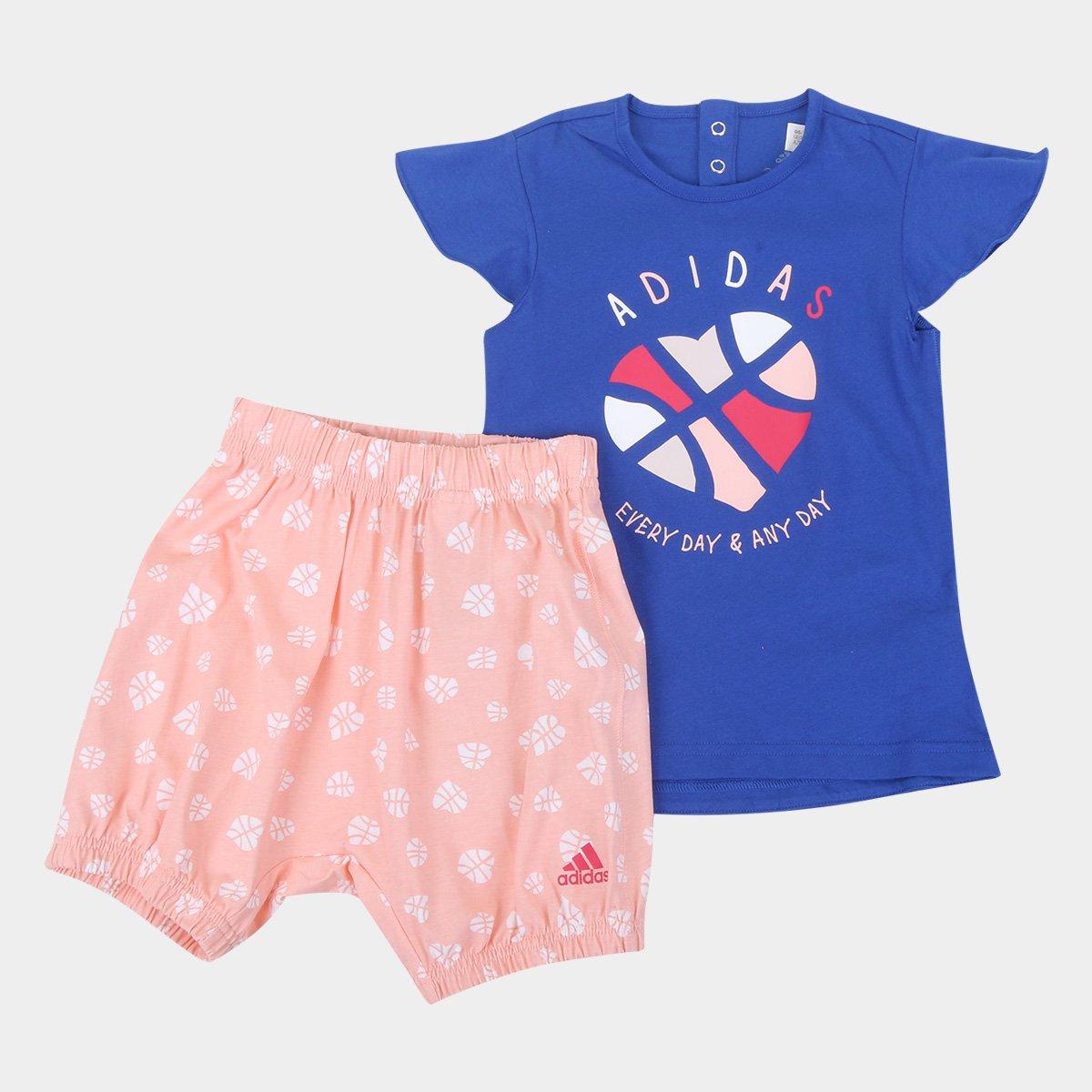 Conjunto Infantil Adidas Summer Set G Feminino