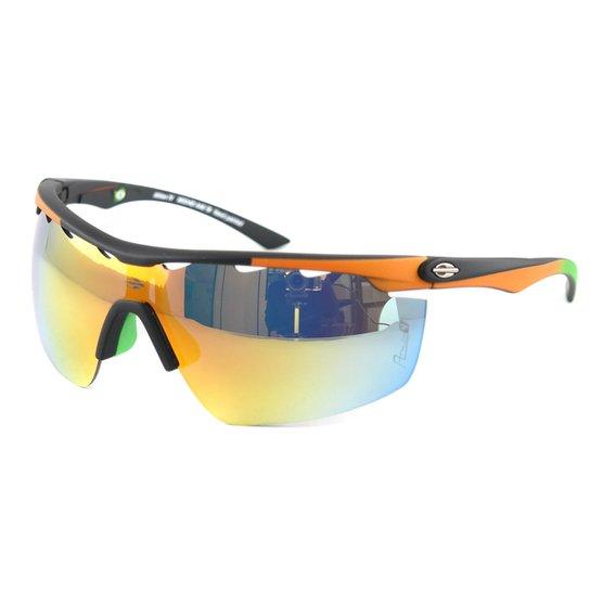 2097fa758 Óculos de Sol Mormaii Athlon IV Espelhado - Preto+Laranja