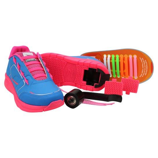 5c1b7e172 Tênis Ortopé Estica e Puxa Rodinha - Azul Royal e Pink | Zattini