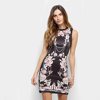 b0070099f Vestido Colcci Curto Tubinho Estampa Floral
