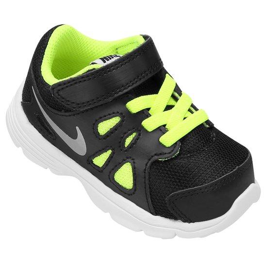 0d0c0693e1a Tênis Nike Revolution 2 TDV Infantil - Preto+Verde Limão