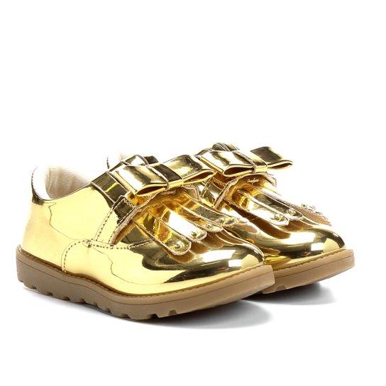 87e0c1c80f Sapato Klassipé Infantil - Dourado e Bege
