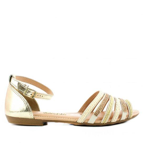 a836080a4 Sandália Dakota Z - Dourado+Bege