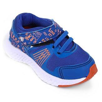57cbe1814c5 Tenis Infantil No Estress Running Com Cadarço e Velcro