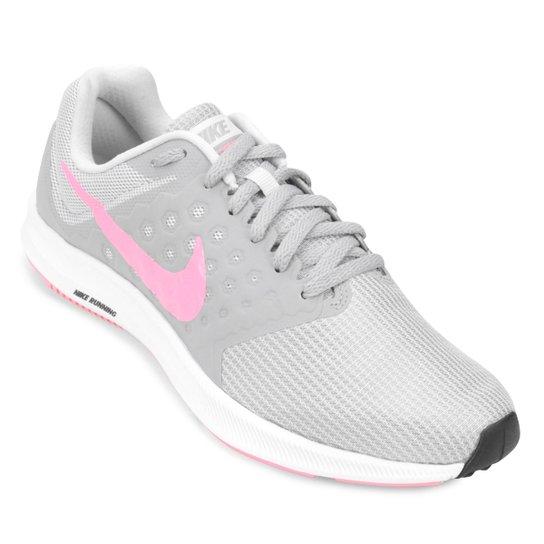 0774708867 Tênis Nike Downshifter 7 Feminino - Cinza e Rosa - Compre Agora ...