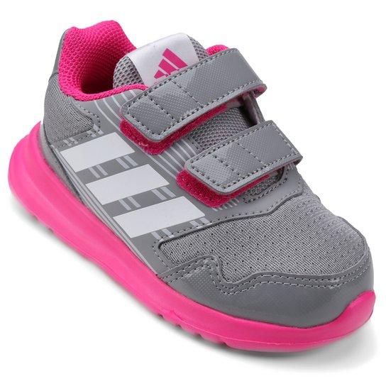 32a332813d8 Tênis Adidas Altarun Cf Infantil - Cinza e Pink - Compre Agora