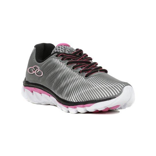 90452b9b03d Tênis Esportivo Infantil Para Menina Olympikus - Cinza rosa - Cinza+Rosa