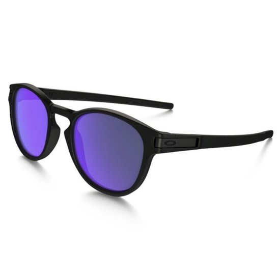 b3390813f6c9f Óculos Oakley Latch Matte Black   Violet Iridium - Preto e Lilás ...