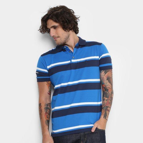 Camisa Polo Aleatory Listrada Masculina - Azul e Marinho - Compre ... 648a1397fe675