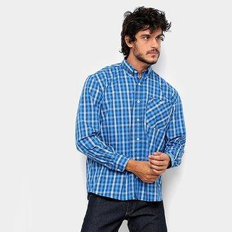 b9afb3970e Camisa Xadrez Manga Longa Wrangler Com Bolso Masculina