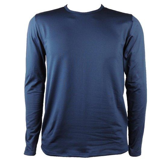 Camisa Térmica Masculina Segunda Pele Thermo Premium - Azul+Marinho fab262e27f623