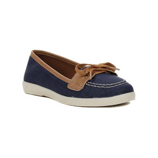 4fd63fd328 Sapato Mocassim Feminino Azul marinho marrom - Compre Agora