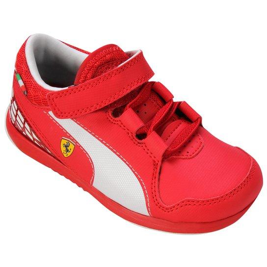 9bedf54132 Tênis Puma Valorosso Scuderia Ferrari 5 Infantil - Vermelho Escuro